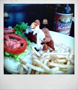 Sandwich and beer @Eagle Café